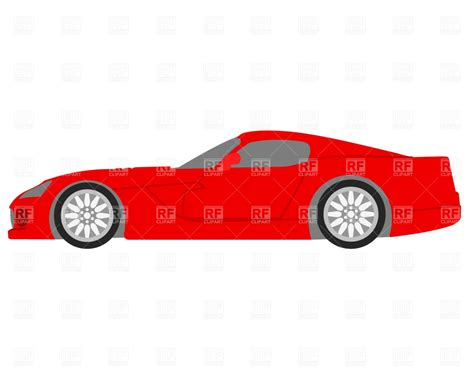 cartoon sports car side red sportster side view royalty free vector clip art