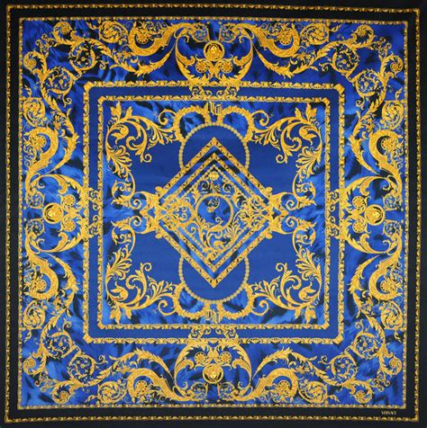 Versace Pattern Fabric | versace medusa blue tiger velvet fabric 54 quot x 54 quot ebay
