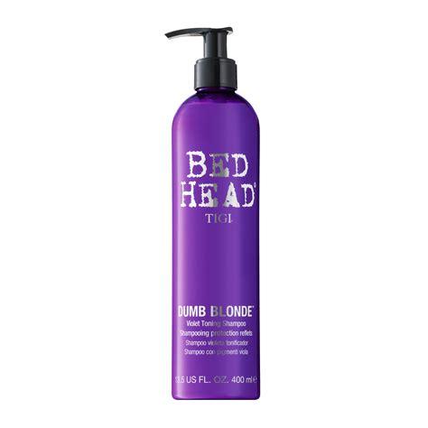 bed head dumb blonde tigi bed head dumb blonde toning shoo 400ml feelunique