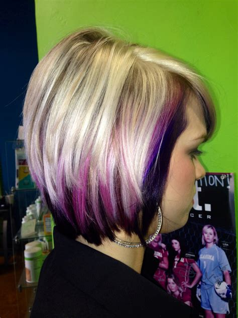 hairstyles with blonde and purple highlights purple and blonde hairstyles fade haircut