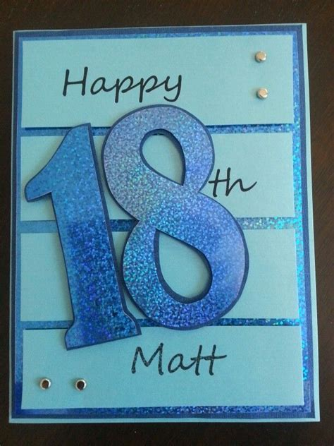 Ideas For 18th Birthday Cards Handmade - 18th birthday card boys are to make cards for