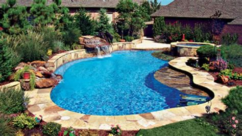 cool backyard pools super cool inground swimming pools by bluehaven custon