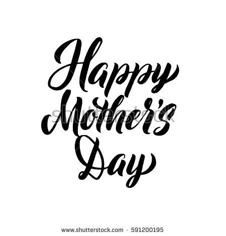 Happy Mothers Day Greeting Card Black Vector