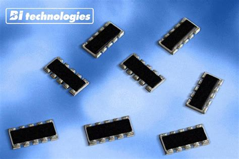 resistor network chip bi technologies develops low profile resistor capacitor chip network for communication applications