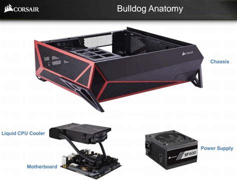 Bulldog 4k Living Room Pc Corsair Bulldog Diy 4k Gaming Pc Announced At 399 With
