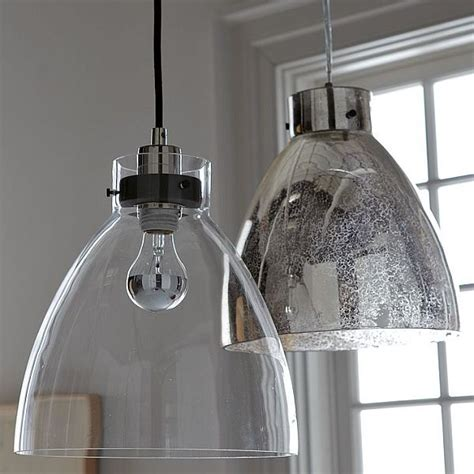 clear glass pendant lights for kitchen minimalist glass pendant with an industrial design