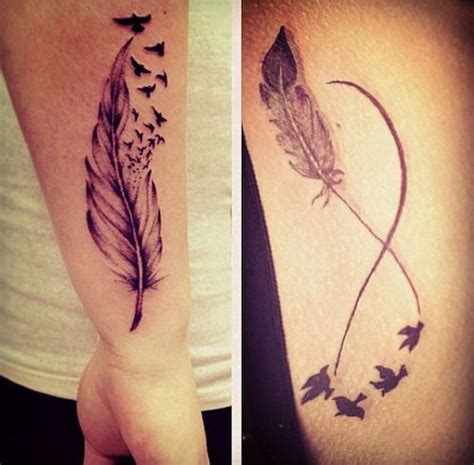 tattoo inspiration weheartit women tattoo feather infinity tattoo we heart it