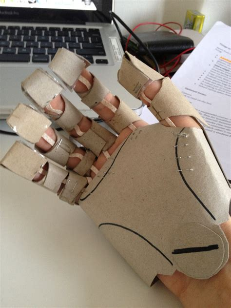 automail gauntlet cardboard 2 by alagon1 on deviantart