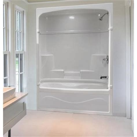 acrylic bathtub shower combo mirolin victoria 60 inch 3 piece acrylic tub and shower
