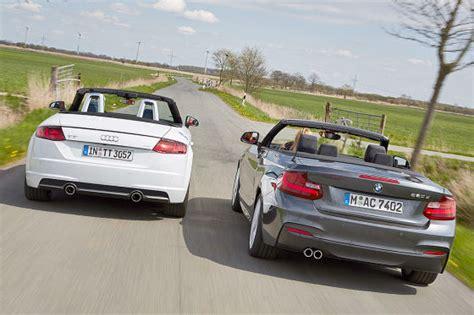 Bmw 2er Test Adac by Offen Mit Vernuft Audi Tt Roadster Und Bmw 2er Cabrio