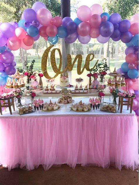 24 best kids birthday party decoration ideas at home homecoach magical unicorn first birthday party birthday party