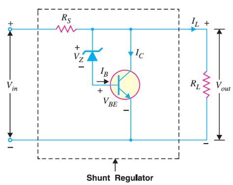 shunt type zener diode voltage regulator dc voltage regulator circuit electronics post