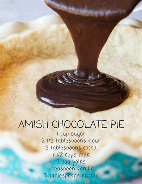 14 Ingredients And Directions Of Sensibly Delicious Chocolate Chip Pie Receipt by Amish Chocolate Pie The Recipes