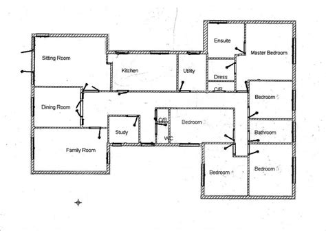 floor plans for a 5 bedroom house luxury 5 bedroom bungalow house plans home plans design