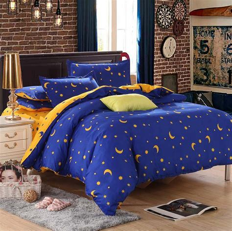 moon bed sheets star moon bedding sets 3pcs 4pcs twin queen king stripe