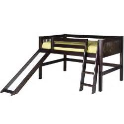 loft bed with slide camaflexi low loft bed with slide reviews wayfair