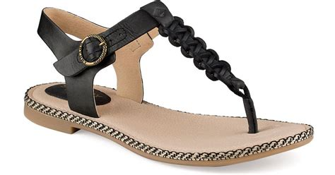 anchor sandals sperry top sider anchor away sandals in black save 14