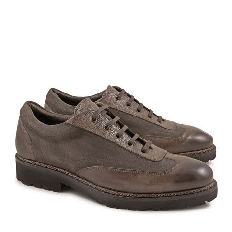 italian leather sneakers italian shoes with laces handmade in taupe leather