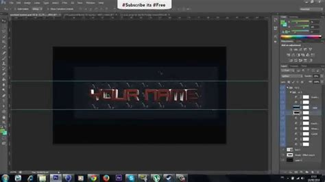Speedart Cinema 4d Photoshop 3d Youtube Banner Template Direct Download Link Youtube 3d Banner Template