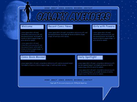 blogger templates for web comics comic book website template 4 by kimlita on deviantart