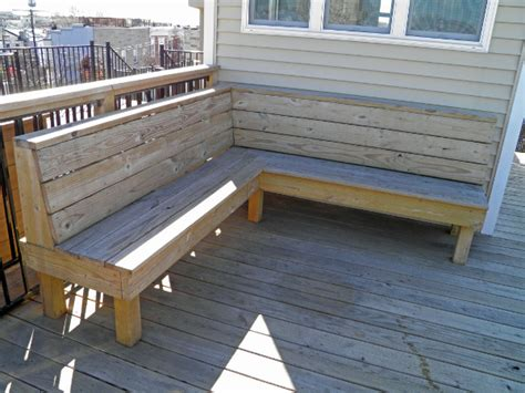 how to build deck bench seating rooftop decks for baltimore rowhomes