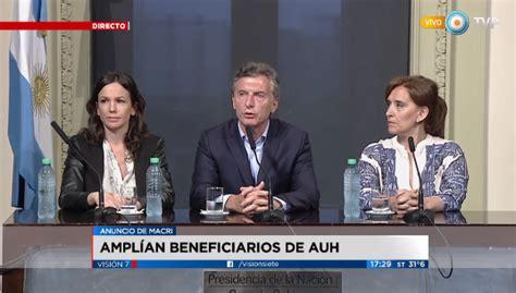 macri anunci el aumento de la asignacin universal por mauricio macri anunci 243 el pago de 400 pesos para