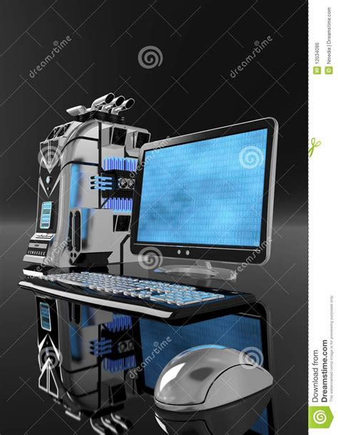 Strong Coler For Laptop And Notbook powerful computer system 02 stock illustration image