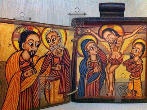 dipinti su due tavole lalibela la croce e il sador