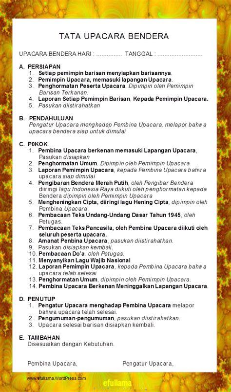 Contoh Teks Anekdot Membuat Undang Undang | teks tata upacara bendera efullama