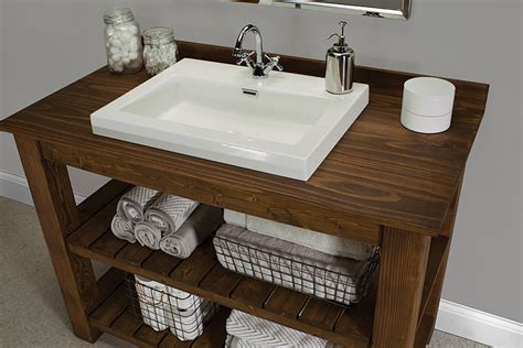 Rustic Bathroom Vanity Buildsomething Com Cabin Bathroom Vanity