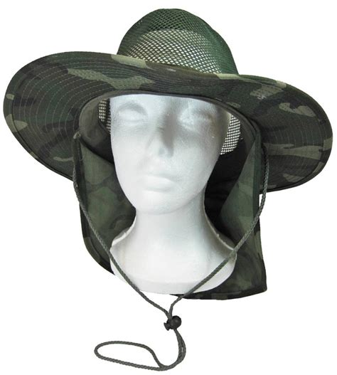 cool mesh boonie bush fishing hiking neck flap sun cover