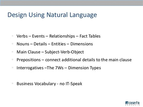 is layout a verb or noun big data warehousing meetup dimensional modeling still