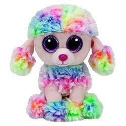 ty beanie boo rainbow multicoloured poodle toys toyworld