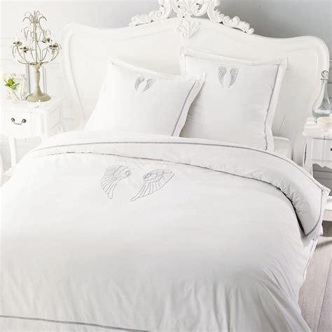 Parure De Lit Blanche 388 by Parure De Lit 220 X 240 Cm En Coton Blanche Ange Maisons