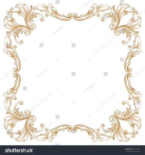 gold pattern border premium gold vintage baroque frame scroll stock vector