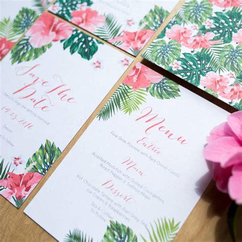 Hawaiian Wedding Invitations by Tropical Hawaiian Wedding Invitation By Sincerely May