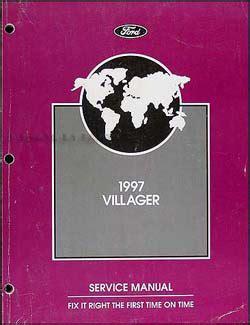 auto repair manual online 1997 mercury villager engine control 1997 mercury villager repair shop manual original