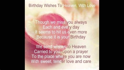 Happy Birthday In Heaven Quotes Heavenly Birthday Wishes To You Mom Youtube