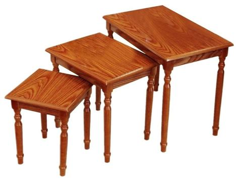 Traditional Coffee Table Sets Set Of 3 Nesting Tables Traditional Coffee Table Sets By Megahome