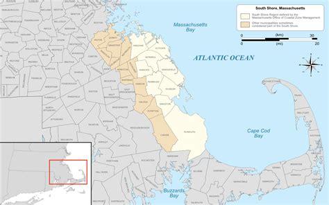 map of mass towns south shore massachusetts