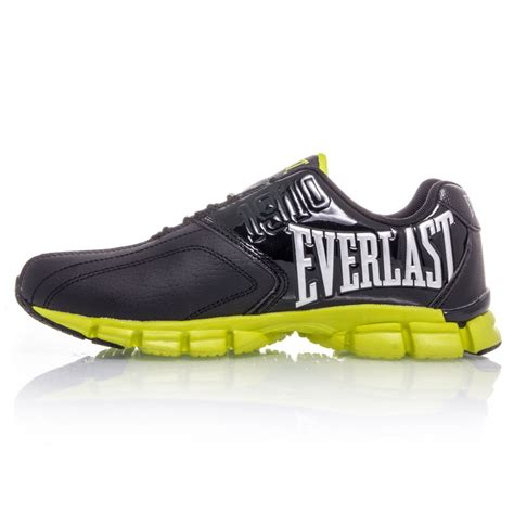 everlast boys casual shoes black fluro yellow