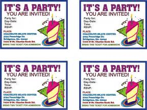 birthday invitations free printable birthday coachlite skate center