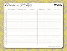 free printable gift list template 9 best images of printable shopping organizer