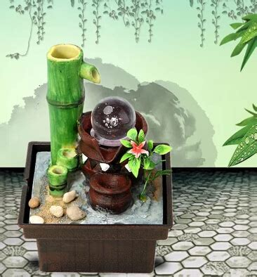 water decorations home desktop water fountain water feature bamboo lucky feng