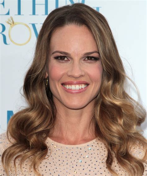 actress with long tapered face hilary swank hairstyles in 2018