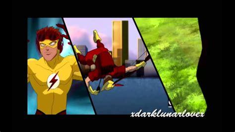 young justice kid flash speedy robin angel   shotgun youtube