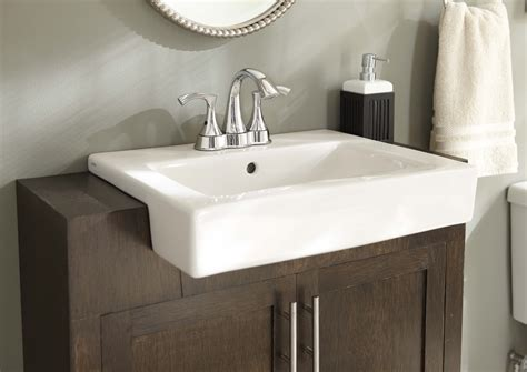 semi recessed kitchen sink gerber plumbing