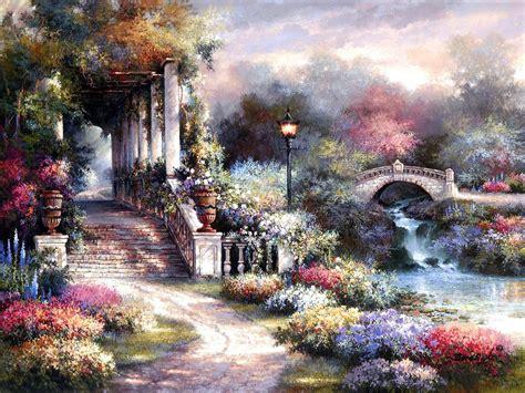 classic wallpaper company fantasy garden wallpaper www pixshark com images