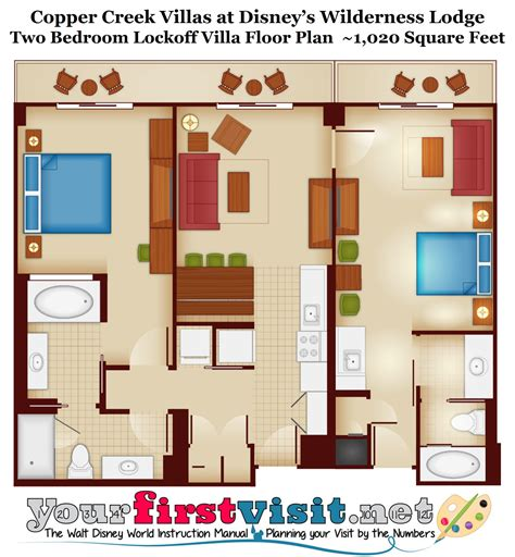 wilderness lodge villas floor plan disney wilderness lodge 1 bedroom villa floor plan