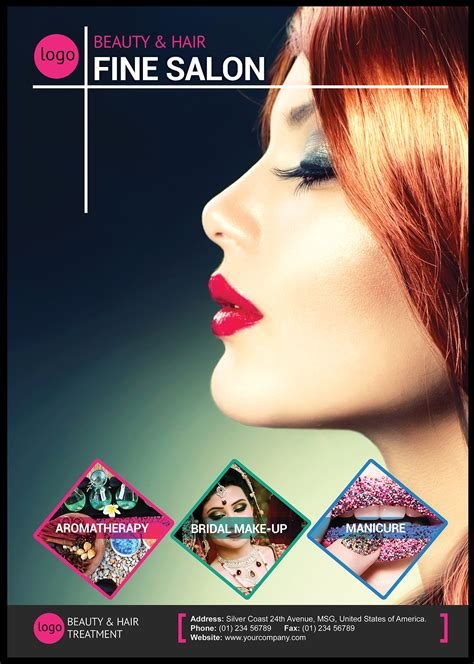 free hair salon posters and banners beauty and hair salon flyer flyer templates on creative